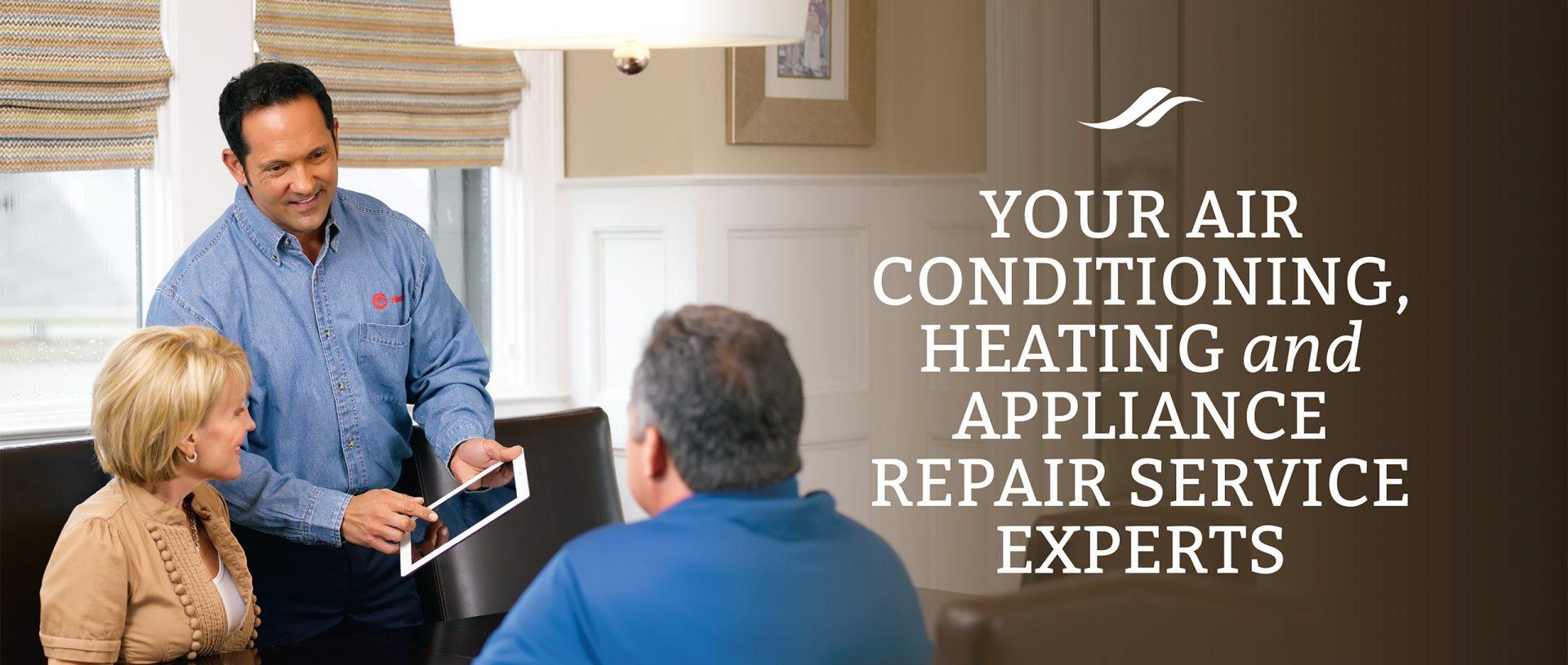 technician meeting with clients Beech Island Appliance Service Co Aiken SC Augusta GA heating air conditioning